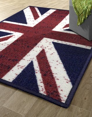 【范登伯格】奧斯頓-旗威 英國國旗地毯.賠售價990元含運-100x140cm