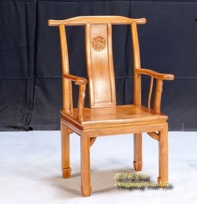 【DYL】柚木實木中國風木製辦公椅、書桌椅、寫字椅-1(全館一律免運費)