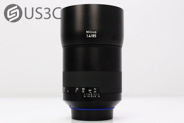 【US3C】台灣公司貨 蔡司 Zeiss Milvus 85mm F1.4 ZE For Canon 定焦鏡 大光圈