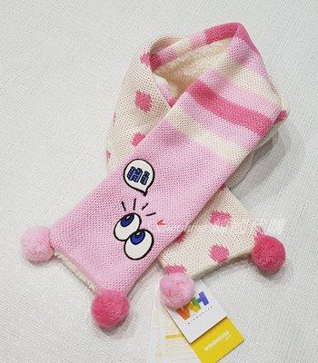 現貨 韓國正品 WH WING HOUSE女童 大眼睛點點 保暖 圍巾