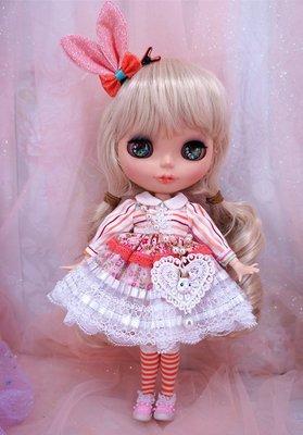 小布blythe bjd 娃衣粉嫩嫩洋裝