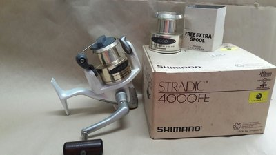 {龍哥釣具2}SHIMANO STRADIC 4000FE 舊款骨董機 雙線杯 4+1培林 池釣捲線器