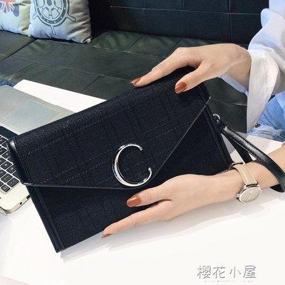上新小包包女2019新款帆布斜挎手包韓版個性時尚百搭氣質手拿包女