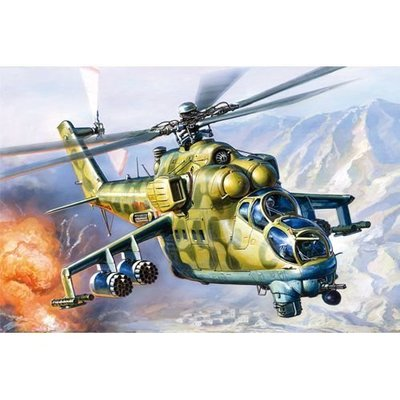 創億RC FA12523 1/72 戰鬥機  Russian Air Force Mi-24V/VP Hind E
