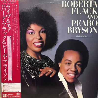 §小宋唱片§ 日版/Roberta Flack And Peabo Bryson-Live/二手西洋黑膠/2LP