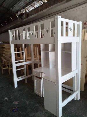 兒童家具 訂製家具  實木兒童上下鋪雙層床 上下床 子母床母子床 新款滑梯床 工廠直營可以訂製