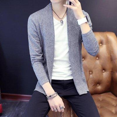 針織外套 2018新款毛衣男士針織衫男開衫中長款修身韓版潮流男外套英倫