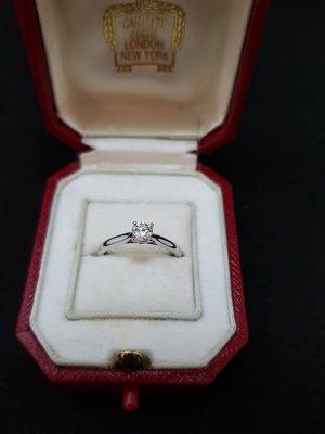 《三福堂國際珠寶1127》Cartier 1895 SOLITAIRE 鑽戒(0.24ct/E)