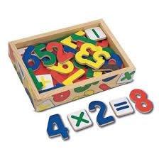 【小糖雜貨舖】美國 Melissa & Doug 數學 木質 磁鐵貼