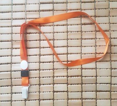 ☆艾力客生活工坊☆DI-037識別帶吊繩 手機吊繩 掛繩 證件套 證件帶 塑膠夾繩(寬1.5cm-對折44cm)平紋橙柿