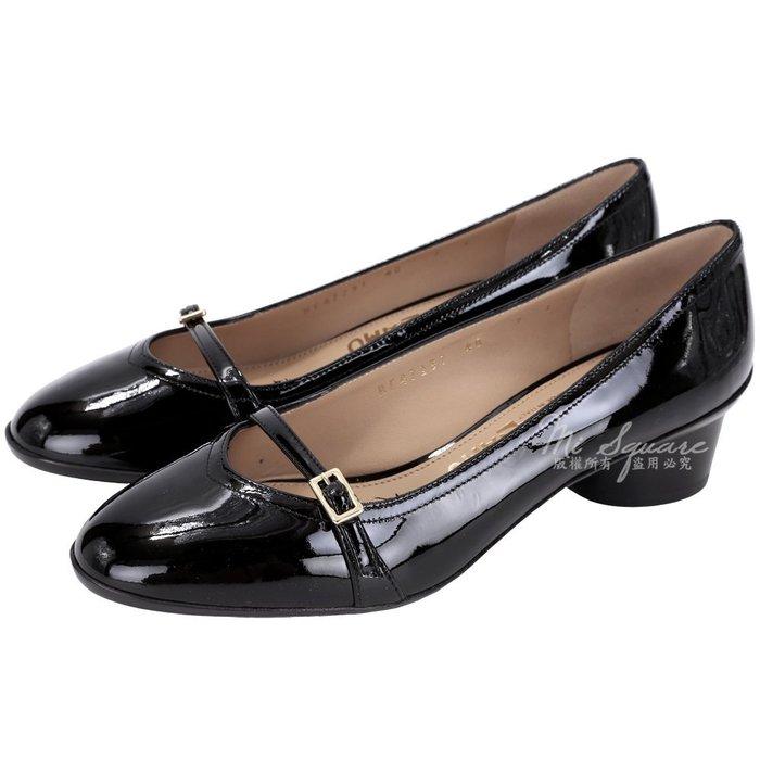 米蘭廣場Salvatore Ferragamo AUDREY 40 漆皮粗跟鞋(黑色) 1530516-01