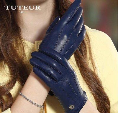 手套 女士秋冬季加厚加絨綿羊皮保暖透氣手套1628