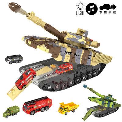 交換禮物 豪華版 坦克移動總部工程系列 (有音樂) 精裝版 組合式 趣味 兒童 玩具 生日 禮物 任你逛2011-34