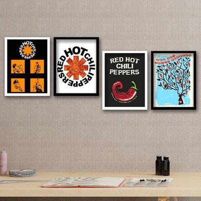 雜貨小鋪 紅熱辣椒Red Hot Chili Peppers樂隊海報 網紅搖滾樂有框裝飾掛畫
