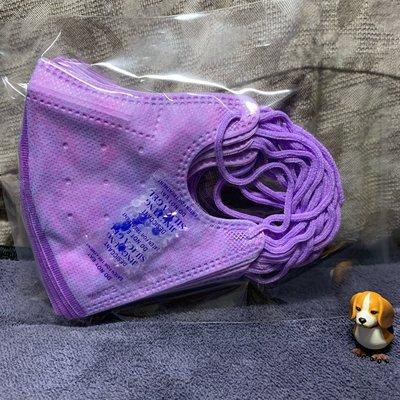 現貨🌈台灣優紙🌈夢幻獨角獸紫️兒童立體口罩(10入)#紫耳繩