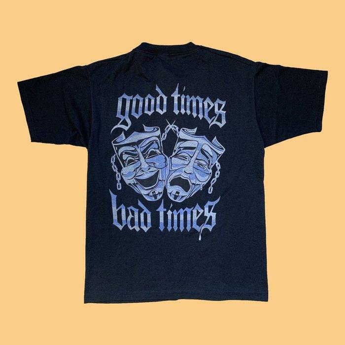 「已售出」JCI:Vintage Good time Bad Time 稀少短T 古著/ Supreme翻玩