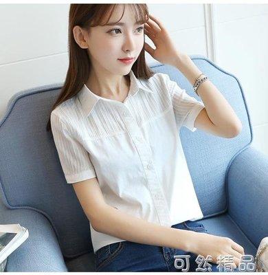 現貨/夏裝新款女士短袖襯衣女白色娃娃領純棉修身打底職業裝襯衫女/海淘吧F56LO 促銷價