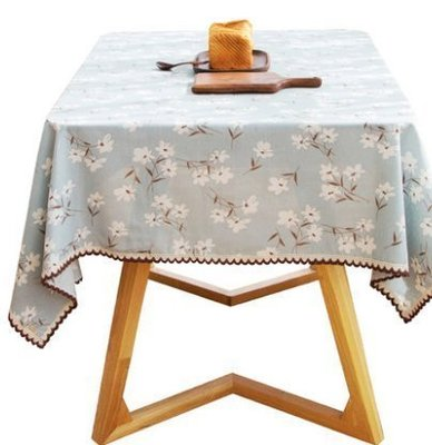 ☜男神閣☞日式布藝棉麻餐桌布夏季和風清爽桌布布藝長方形茶幾布臺布可定制