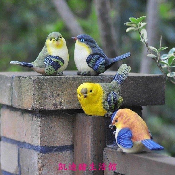 【凱迪豬生活館】一套4個的價格 特惠【禮品飾界】創意花園藝陽臺家居裝飾品仿真小鳥擺件可愛電視櫃工藝品擺設KTZ-201031