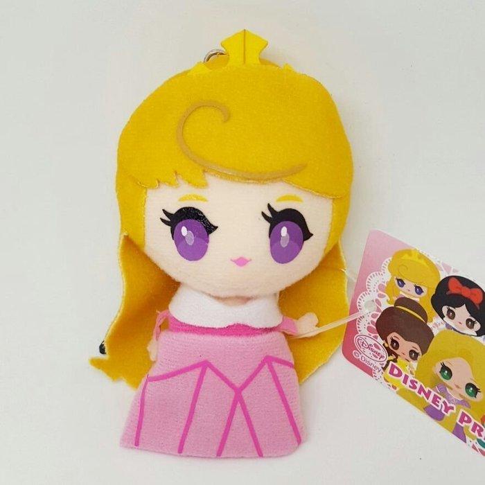【UNIPRO】 睡美人 歐若拉 3.5mm 手機 平板 Q版 絨毛防塵塞 吊飾 玩偶 日貨 迪士尼公主 奧蘿拉