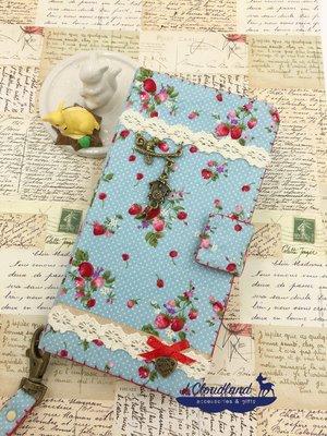 *J.Cloudland*純手工訂製 草莓之戀 筆記本型 掀蓋式 手機殼 手機套 IPhone 6/ 7 /8
