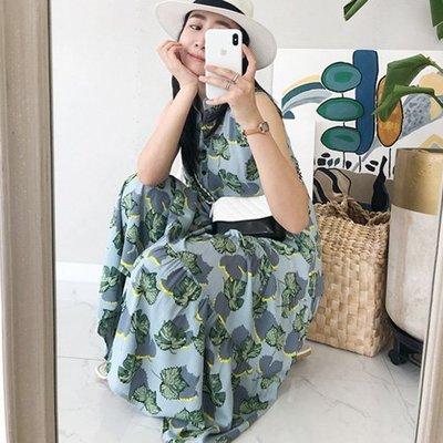 韓國空運無袖洋裝 正韓 花色背心裙 艾爾莎 【TA600345】