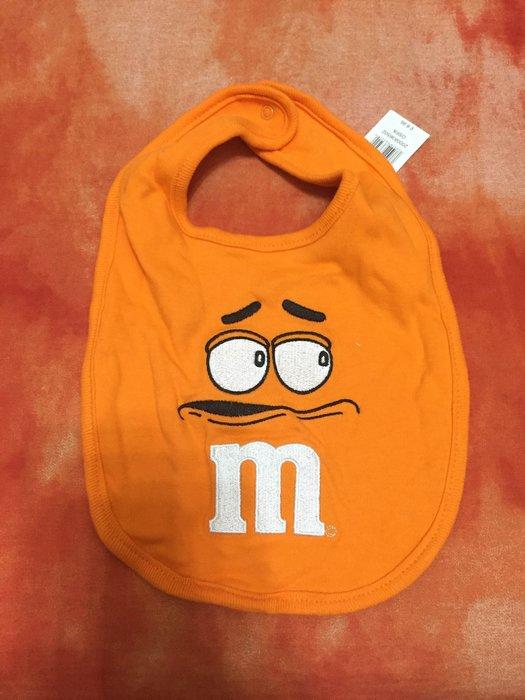 [M&M London ONLY]m&m巧克力嬰兒圍兜兜 橘色