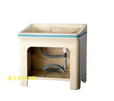 鑫忠廚房設備-餐飲設備:塑鋼槽系列-全新塑鋼洗衣檯76*58-賣場有快速爐-工作臺-冰箱-烤箱-西餐爐