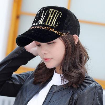 【MURUACHIC率真風格☆K682-1☆韓製毛絨金鍊棒球帽 -黑色款】帽子專賣店