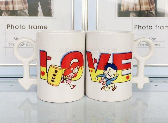 熱轉印情侶符號杯子~陶瓷~可以印照片~相片~文字~ 送情侶生日禮物馬克杯~代表一杯子=一輩子~高雄可自取~ 售價為白杯系