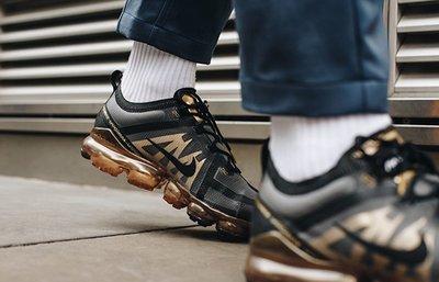 【Dr.Shoes】免運Nike Air VaporMax 2019 男鞋 黑金 全氣墊 休閒鞋 AR6631-002