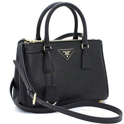 Prada BN2316 Mini Saffiano Lux Tote Bag 迷你 斜背包 黑