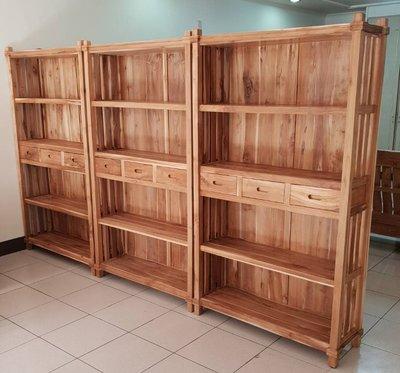 【南台灣傢俱】3.5尺印尼老柚木全實木全柚木書櫃***市價$19000,特價$13900元