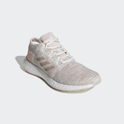 【吉米.tw】ADIDAS 女款編織慢跑鞋  PUREBOOST GO W 卡其 粉 女款 運動休閒 G54519MAR