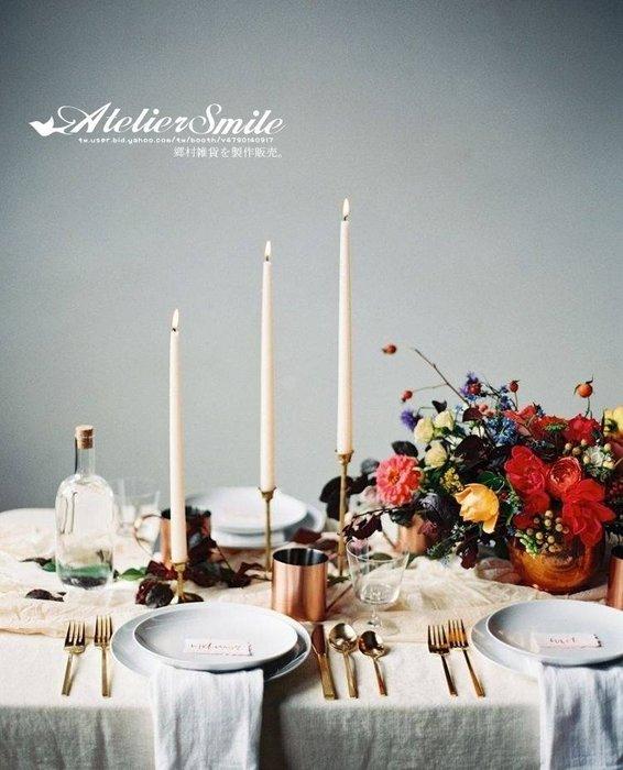 [ Atelier Smile ] 鄉村雜貨 北歐風 / 金屬家飾系列 / 全銅製燭台 / 經典復刻 # S (現+預)