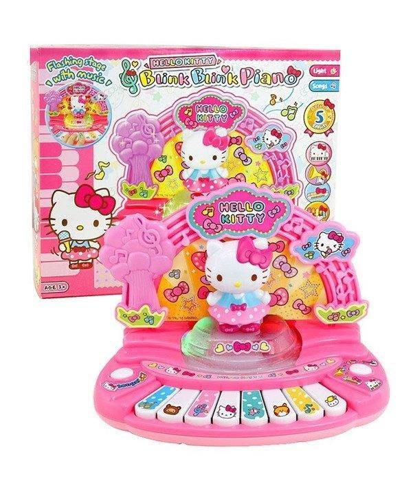 【W先生】Hello Kitty 凱蒂貓 閃亮舞台電子琴 兒童 鋼琴 電子琴 女孩 家家酒 玩具