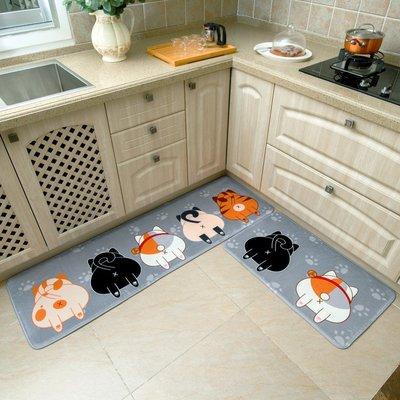 廚房地墊門墊長條腳墊子防滑防油吸水家用浴室衛生間門口臥室地毯