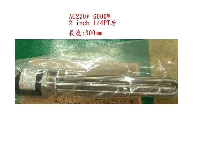 白鐵電熱管AC220V 6000W  電源2線