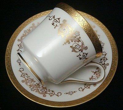 【timekeeper】  日本製Mikasa Colony Gold系列華麗重金咖啡杯+盤(免運)