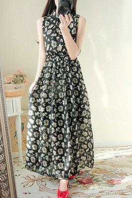 日韓版洋裝連衣裙(黑色) J-12510