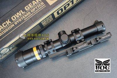 【翔準國際AOG】【BOG】1.5-6X24 紅光纖  高清晰 狙擊鏡 Black Owl Gear  1512
