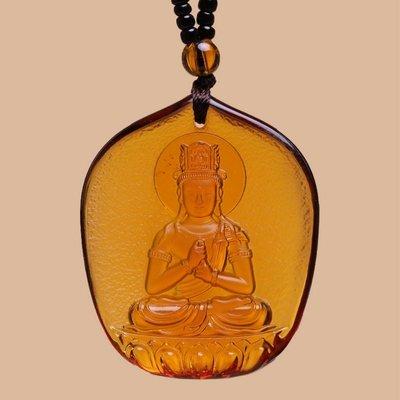 【睿智精品】琉璃 神像 佛像 大日如來項鍊 珠鍊款 十二生肖屬(羊)(猴)本命佛(GA-4805)