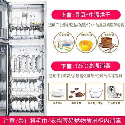 220V現代消毒櫃家用立式雙門小型不銹鋼櫃式迷你台式消毒碗櫃商用  igo