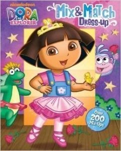 *小P書樂園* Dora the Explorer Mix & Match Dress-up (Mix and Matc