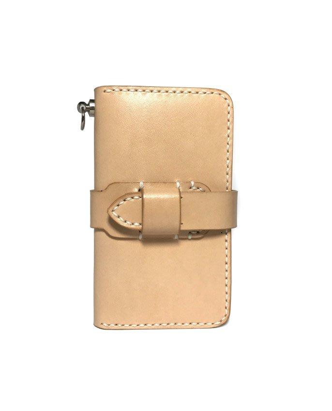 【IAN X EL】植鞣革隨手鑰匙包-6勾 可免費印字 純手工皮件