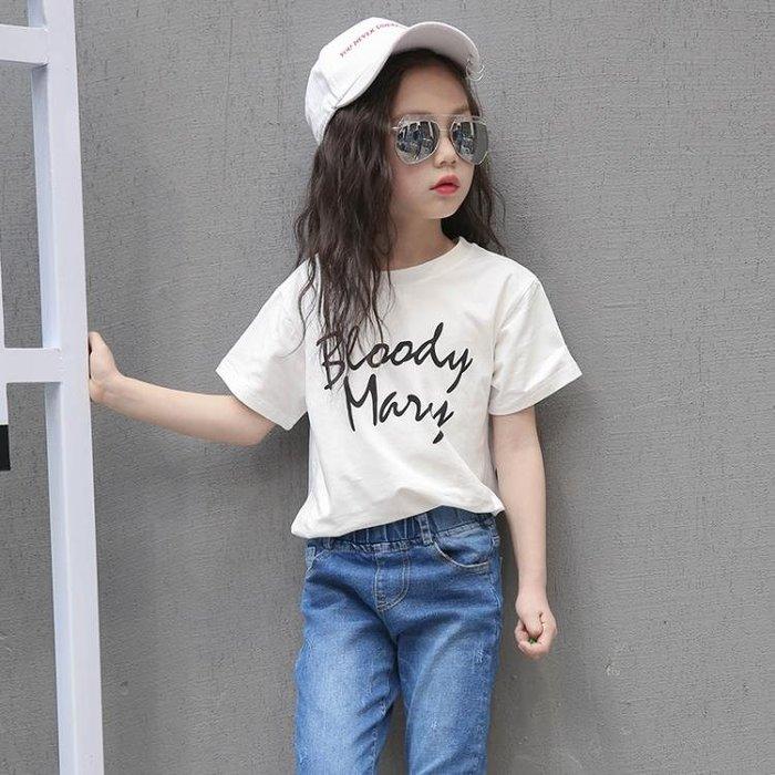 女童短袖T恤10韓國兒童裝中大童女裝學生夏裝12-15歲女孩上衣--古月醬子館