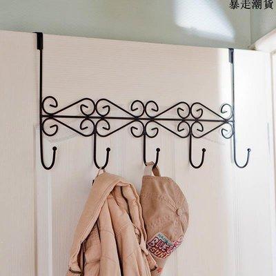 精選 3只 門背式掛架掛鉤置物架墻上壁掛衣架廚房門后無痕免打孔衣帽鉤