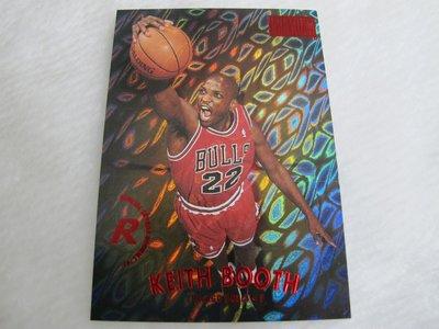 ~Keith Booth~SKYBOX RUBIES NBA超高比例 變形蟲 公牛隊 新人球卡(限量50張)ROOKIE