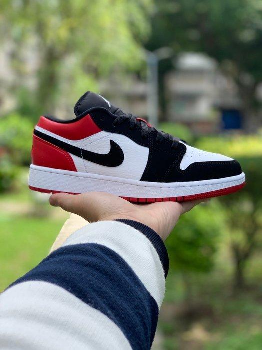 """Air Jordan 1 Low GS """"Black Toe"""" 黑腳趾 女鞋 553560-116"""
