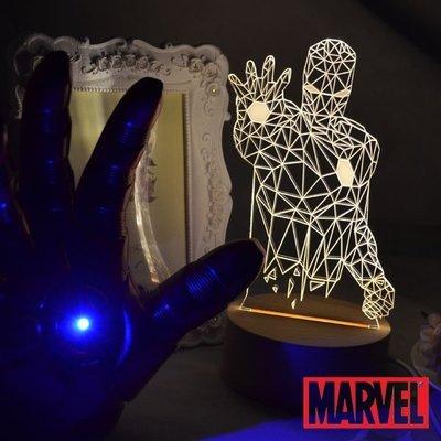 R.A Design 3D LED 小夜燈 美國設計師 鋼鐵人 【原價1280元】 迪士尼  創意3D MARVEL
